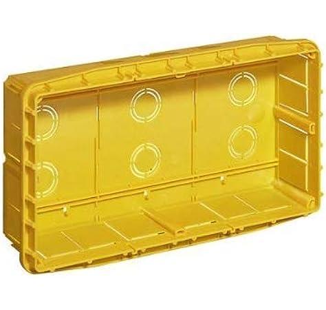 Bticino 16207 - Caja de derivación empotrable preparada para división en 3 Compartimentos, Color Amarillo: Amazon.es: Bricolaje y herramientas