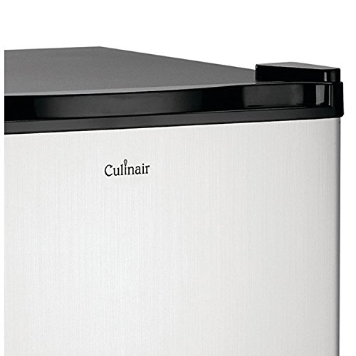 Culinair Af100s 1.7-Cubic Foot Compact Refrigerator, Silver and Black by Culinair (Image #1)