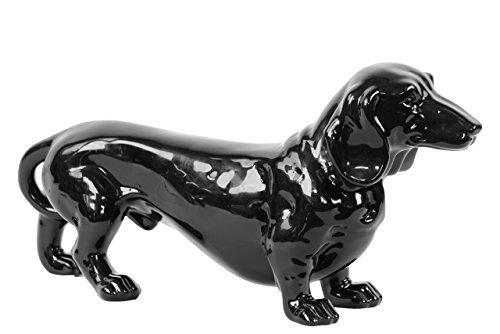 新品本物 Benzara Black Timid Standing Ceramic Dog Benzara Black Standing [並行輸入品] B0751B47V9, 王滝村:2e6d8af8 --- arcego.dominiotemporario.com