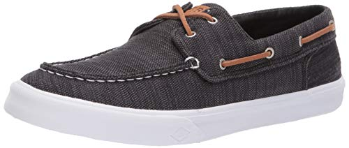 SPERRY Men's Bahama II Baja Sneaker, Black, 080 Medium US