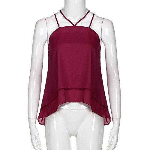 Crop Shirt Tee Vest Tops Bandage Eleganti Donne Camicia Spiaggia Maniche Senza Sexy Estivi Meibax Gilet Estive Estate Vino Casual Canotta Donna xqt7ZZ