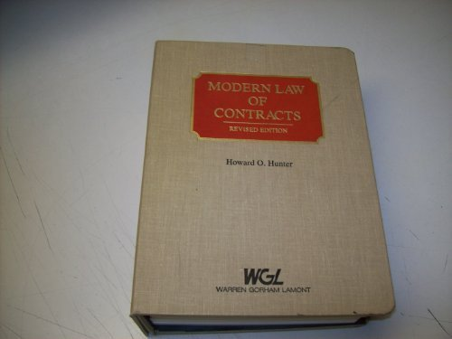 Modern law of contracts