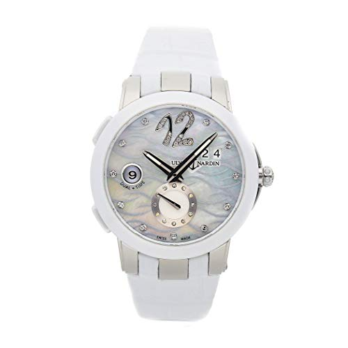 Ulysse Nardin Executive Dual Time Mechanical (Automatic) Mother-of-Pearl Dial Womens Watch 243-10/691 (Certified Pre-Owned) ()