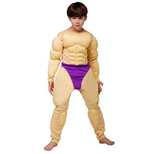 Juggernaut Costumes Halloween (DSplay Boy's Muscle Suit Costume Jumpsuit)