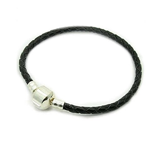 Genuine Braided Leather Bracelet Champagne product image