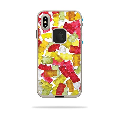 MightySkins Skin for LifeProof FRE iPhone Xs Max Case - Gummy Bears | Protective, Durable, and Unique Vinyl Decal wrap Cover | Easy to Apply, Remove, and Change Styles | ()