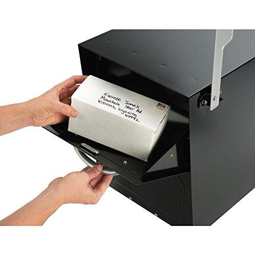 Oasis Jr. Elite Black Post-Mount Locking Mailbox - Architectural Mailboxes Oasis Jr Mailbox