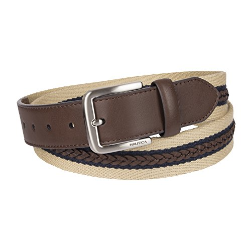 Belt Casual Nautica - Nautica Men's Casual Belt, khaki/brown, 38