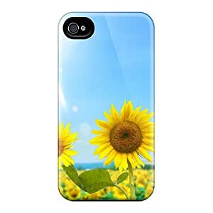 New Arrival Sunflower Garden NwUcSnZ6806lWYcM Case Cover/ 4/4s Iphone Case