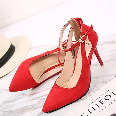 Summer Heel Spring Club Shoes Green4in Evening 5 Stiletto Club US5 Shoes 5 Fleece Ruby amp; Dress CN35 4 Party EU36 Office Black UK3 Buckle amp; Career Women'sHeels aIpqn