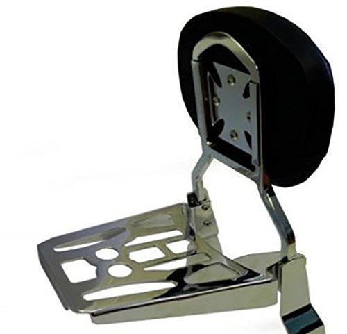 Round Sissy Bar Backrest /& Luggage Rack for Suzuki 1998-2004 Intruder VL1500 2005-2012 Boulevard C90