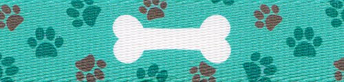 D-ring Dog Bones (Country Brook Design 5/8 Inch Oh My Dog Polyester Webbing, 5 Yards)