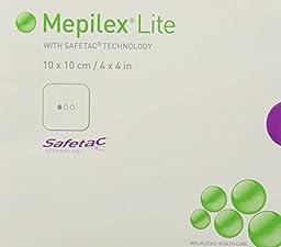 Mepilex Lite Wound Care Foam Dressing w/ Safetac (4\