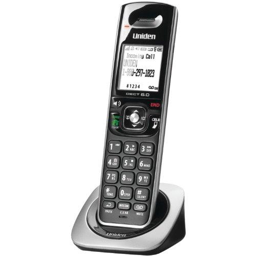 Uniden Bluetooth (DCX350 DECT 6.0 Cordless Handset, Black, 1 Handset)