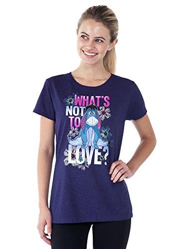 Disney Women's Fitted T-Shirt Eeyore What's Not to Love Print (Purple, Medium) by Disney (Image #2)
