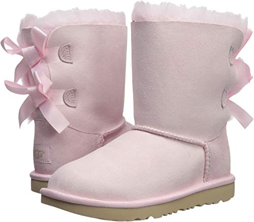 Ugg Girls Bailey Bow (UGG Girls' K Bailey Bow II Fashion Boot, Seashell Pink, 13 M US Little)
