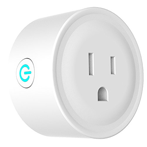PowerBear Smart Plug | Voice and App Controlled Wi-Fi Mini Outlet | Amazon Alexa and Google Home Compatible [White]