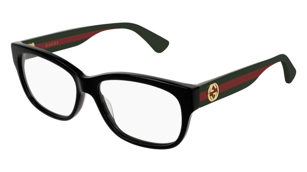 Gucci GG 0278O 011 Black Plastic Rectangle Eyeglasses 55mm by Gucci