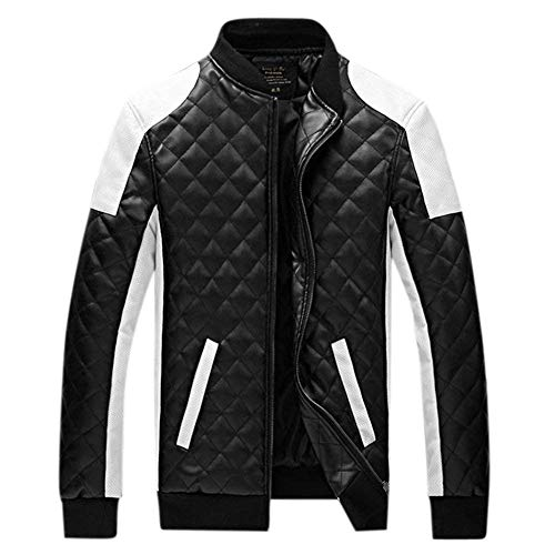 Down Outdoors Sleeve Mens Side Long Leather Cotton Outwear Clásico Pu Laisla fashion Slim Pockets Mens Jacket Jackets Casual Boy Fit Jacket Schwarz ZCnxWTI8