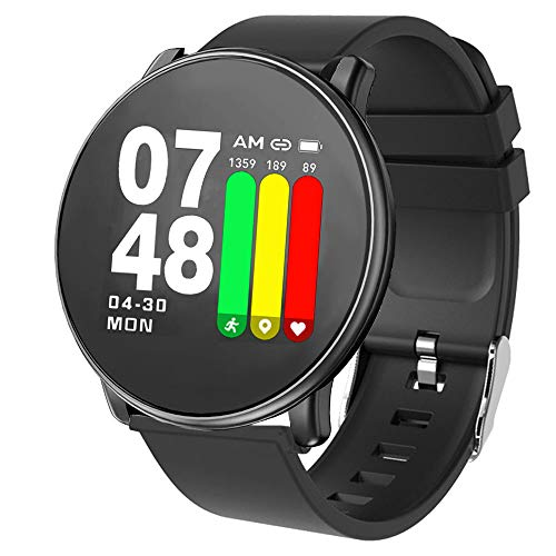 Papipets Fitness Tracker Smart Watch 2019 Newest Design Sports Heart Rate Activity Tracking Touchscreen Band Sleep Monitoring Long Battery Life Compatible Android & iOS Smartphones (Best Sport Smartwatch 2019)