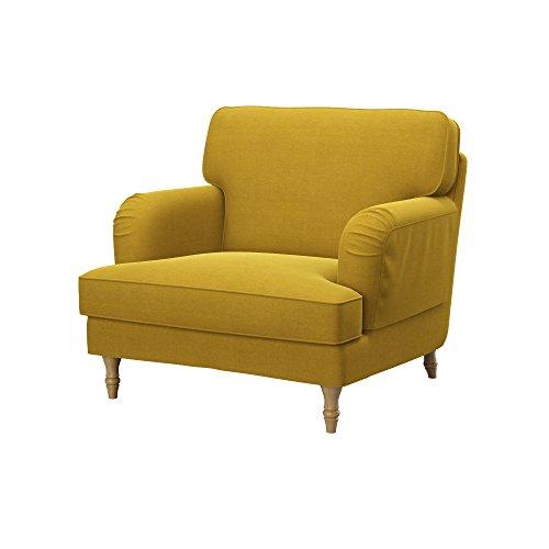 Soferia - IKEA STOCKSUND armchair cover, Elegance Dark Yellow