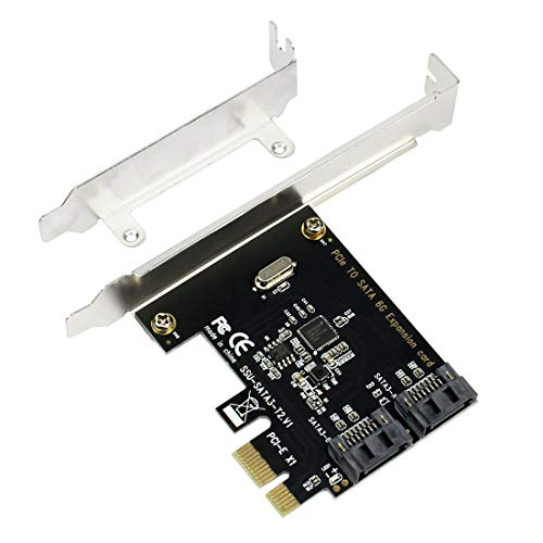 Slot Ide Adapter Expansion (BGNing PCIE PCI Express to SATA3.0 2-Port SATA III 6G Expansion Controller Adapter Card)