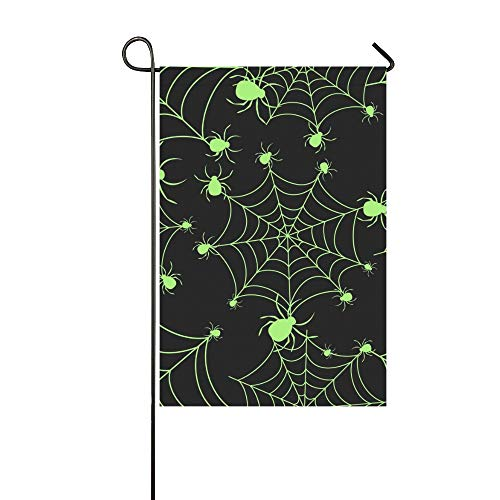 KUneh Home Decorative Outdoor Double Sided Abstract Halloween Pattern Girls Boys Garden Flag,House Yard Flag,Garden Yard Decorations,Seasonal Welcome Outdoor Flag 12 X 18 Inch Spring Summer Gift for $<!--$16.00-->