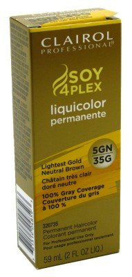 Clairol Professional Liquicolor Permanent 5Gn/35G Lightest Gold Neut. Brown 2 Ounce (59ml) (2 Pack)