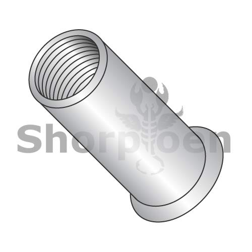 SHORPIOEN Small Head Threaded Insert Rivet Nut Aluminum Cleaned and Polished Non-Ribbed 6-32-.080 BC-LA-06080 (Box of 1000)