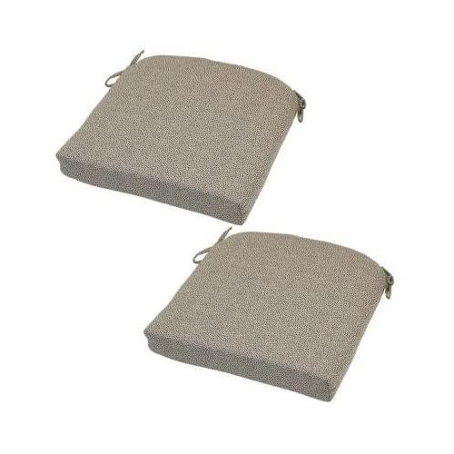 hampton bay dotted sky rapid dry deluxe outdoor seat cushion 2 pack - Hampton Bay Patio Cushions