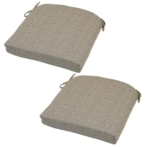 Hampton Bay Dotted Sky Rapid Dry Deluxe Outdoor Seat Cushion (2 Pack)
