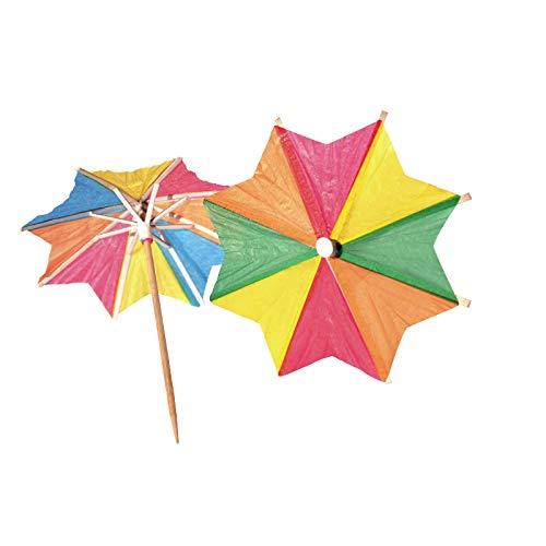 - Colorful Octagonal-Umbrella Picks,Paper Party Sticks Cupcake/Cake/Fruit/Ice cream Toppers Decoration Supplies Pricks (signs 144pcs)