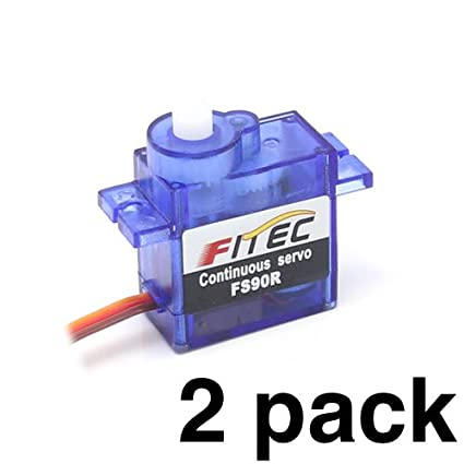 FEETECH FS90R (2 Pack) - 360° Rotation | Continuous Rotation Robotic Servo  | by himalayanelixir