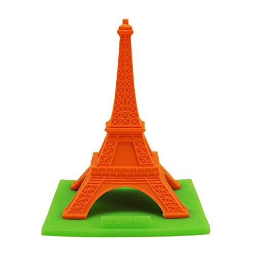 Real Fun Paris Eiffel Tower Decor functioning as Name Card Holder (Orange)