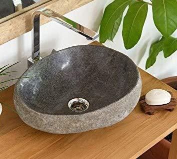 Salon Joies lavabo Pierre Naturelle mégalithe 30-40 cm ronde ...