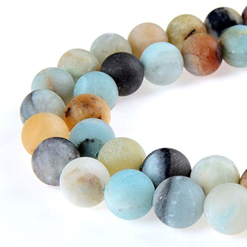 PLTbeads Gorgeous Amazonite Natural Gemstone Loose Beads 10mm Matte Round Approxi 15.5 inch DIY Bracelet Necklace For Jewelry Making