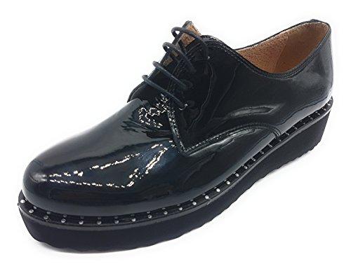 de femme pour Chaussures Lince lacets ville Noir à vwASxTqxn5