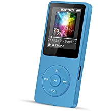 AGPTEK A02 8GB MP3 Player Lossless Sound 70 Hours Playback Music Player (Supports up to 128GB), Blue
