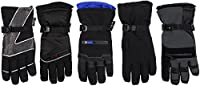 Mens Winter Gauntlet Gloves Skiing Snow Boarding Snowmobiling & Sports