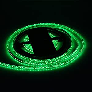 AOA - Waterproof 5M 48W 120x3528SMD 1800-2400LM Green Light LED Strip Light with 12V 5A Adapter