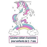 Licorne cahier d'activités pour enfants de 3