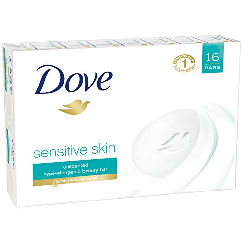 Dove Beauty Bar, Sensitive Skin  16 bars (8 bar 2 )