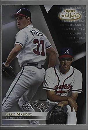 Amazoncom Greg Maddux Baseball Card 2018 Topps Gold Label
