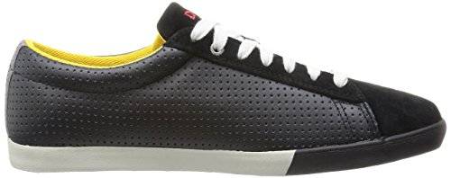 Diesel Mens Casual Shoes Bikkren Lace up Sport Leather Fashion Sneakers Black / Paloma 0XPmkyJ