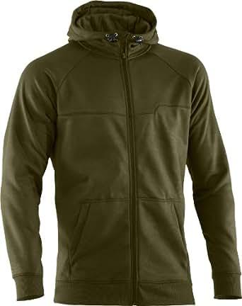 Under Armour Fleece Storm Embossed Hoody Jacket, Greenhead / Emboss / Flux, Medium