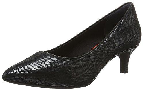 Leather Total Toe Black 75MM 2 Ladies Rockport Noir Pumps Snake Pointy Motion Womens wqnWf6gZ0