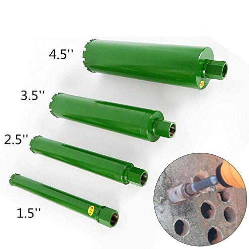 "4 x Wet Diamond Core Drill Bit Diamond Core Drill Bit 1.73"" 2.5"" 3.5"" 4.5"" Wet Block Concrete Brick masonry US from TFCFL"