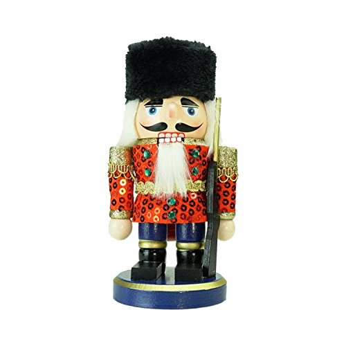 """Northlight 7"""" Red, Gold and Black Wooden Christmas Chubby..."""