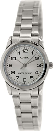 Casio Women's LTPV001D-7B Silver Metal Quartz Watch