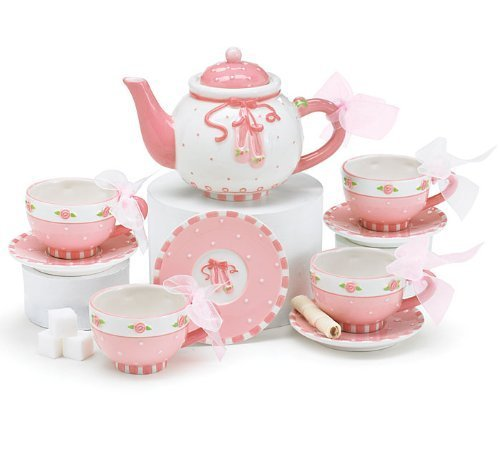 Ballerina Ballet Shoes Miniature Tea Set Beautiful Keepsake